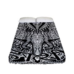Ornate Hindu Elephant  Fitted Sheet (full/ Double Size) by Valentinaart