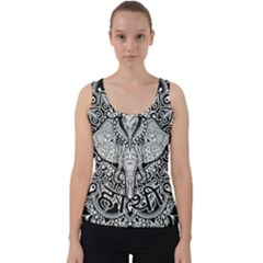 Ornate Hindu Elephant  Velvet Tank Top by Valentinaart