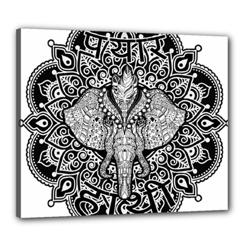 Ornate Hindu Elephant  Canvas 24  X 20  by Valentinaart