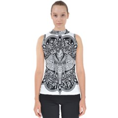 Ornate Hindu Elephant  Shell Top by Valentinaart