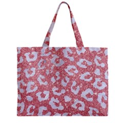 Skin5 White Marble & Pink Glitter (r) Zipper Mini Tote Bag by trendistuff