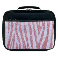 Skin4 White Marble & Pink Glitter (r) Lunch Bag by trendistuff