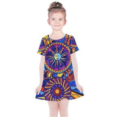 Sun & Moon - Kids  Simple Cotton Dress by tealswan