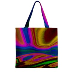 Colorful Waves Grocery Tote Bag