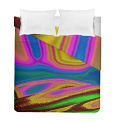 Colorful Waves Duvet Cover Double Side (full/ Double Size)
