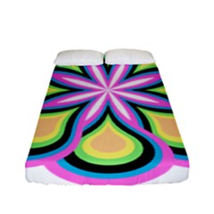 Colorful Feathers Mandala Fitted Sheet (full/ Double Size)