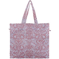 Damask2 White Marble & Pink Glitter (r) Canvas Travel Bag by trendistuff