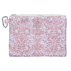 Damask2 White Marble & Pink Glitter (r) Canvas Cosmetic Bag (xl) by trendistuff