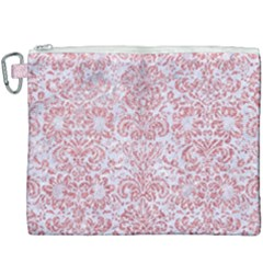 Damask2 White Marble & Pink Glitter (r) Canvas Cosmetic Bag (xxxl)