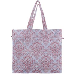 Damask1 White Marble & Pink Glitter (r) Canvas Travel Bag by trendistuff