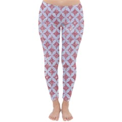 Circles3 White Marble & Pink Glitter Classic Winter Leggings by trendistuff