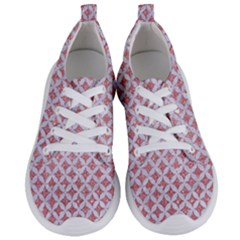 Circles3 White Marble & Pink Glitter Women s Lightweight Sports Shoes