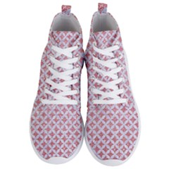 Circles3 White Marble & Pink Glitter Men s Lightweight High Top Sneakers