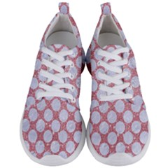 Circles2 White Marble & Pink Glitter Men s Lightweight Sports Shoes