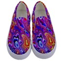Colorful texture                                Kids  Canvas Slip Ons View1