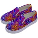 Colorful texture                                Kids  Canvas Slip Ons View2