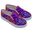 Colorful texture                                Kids  Canvas Slip Ons View3