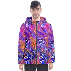 Colorful Texture                                      Men s Hooded Puffer Jacket