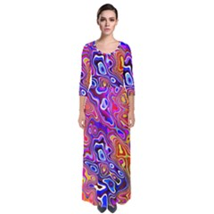 Colorful Texture                                        Quarter Sleeve Maxi Dress by LalyLauraFLM