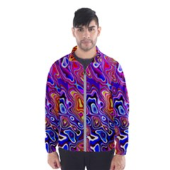 Colorful Texture                                      Wind Breaker (men) by LalyLauraFLM
