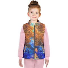 Blue Brown  Texture                                 Kid s Puffer Vest