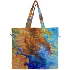 Blue Brown  Texture                                  Canvas Travel Bag by LalyLauraFLM