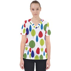 Retro Trees Leaf Scrub Top by goodart