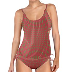 Crazy Retro Pattern Tankini Set