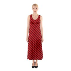 Abstract Red Art Sleeveless Maxi Dress by goodart
