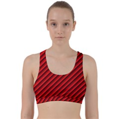 Abstract Red Art Back Weave Sports Bra