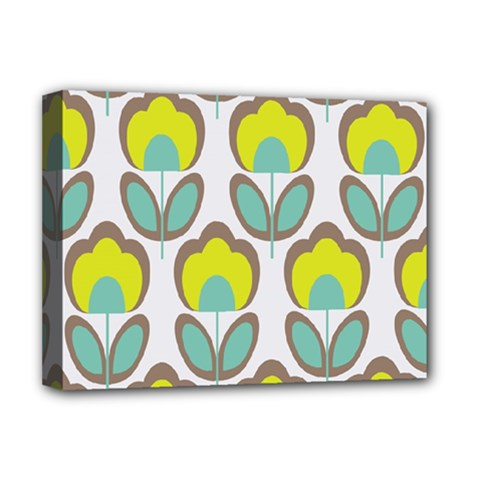 Floral Retro 70s Deluxe Canvas 16  X 12   by goodart
