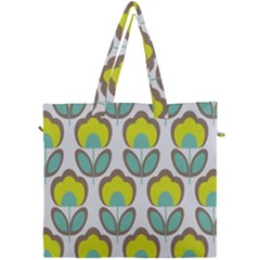 Floral Retro 70s Canvas Travel Bag by goodart