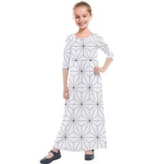 Making Of Kirikan Pattern Kids  Quarter Sleeve Maxi Dress by goodart
