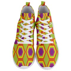 Geometric Retro Pattern Men s Lightweight High Top Sneakers