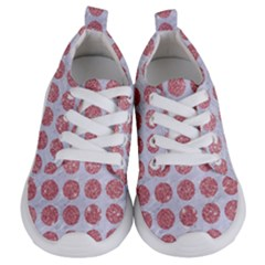 Circles1 White Marble & Pink Glitter (r) Kids  Lightweight Sports Shoes
