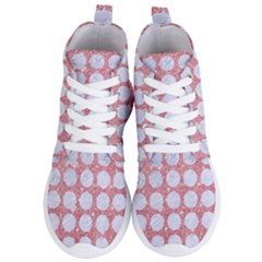 Circles1 White Marble & Pink Glitter Women s Lightweight High Top Sneakers