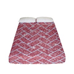 Brick2 White Marble & Pink Glitter Fitted Sheet (full/ Double Size)