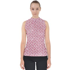 Brick2 White Marble & Pink Glitter Shell Top
