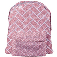 Brick2 White Marble & Pink Glitter Giant Full Print Backpack