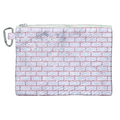 Brick1 White Marble & Pink Glitter (r) Canvas Cosmetic Bag (xl)