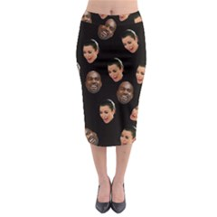 Crying Kim Kardashian Midi Pencil Skirt by Valentinaart