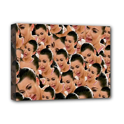 Crying Kim Kardashian Deluxe Canvas 16  X 12   by Valentinaart