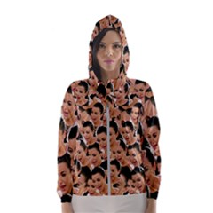 Crying Kim Kardashian Hooded Windbreaker (women) by Valentinaart