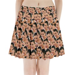 Crying Kim Kardashian Pleated Mini Skirt by Valentinaart