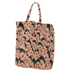 Crying Kim Kardashian Giant Grocery Zipper Tote by Valentinaart