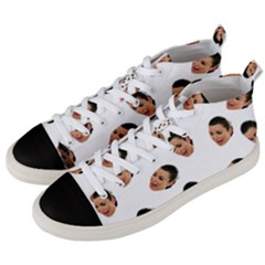 Crying Kim Kardashian Men s Mid-Top Canvas Sneakers