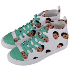 Crying Kim Kardashian Women s Mid-Top Canvas Sneakers
