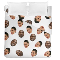 Crying Kim Kardashian Duvet Cover Double Side (queen Size) by Valentinaart