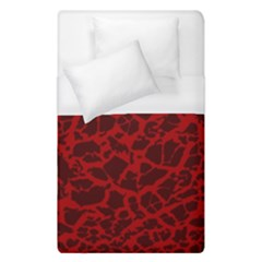 Red Earth Texture Duvet Cover (single Size) by LoolyElzayat