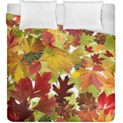 Autumn Fall Leaves Duvet Cover Double Side (king Size)